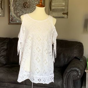 White free people lace tunic